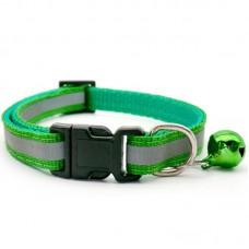 Reflektörlü Kedi Tasması Koyu Yeşil