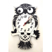 Siyah Beyaz Baykuş Görünümlü Duvar Saati