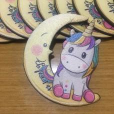 Aydede ve Unicorn İsimli Ahşap Magnet