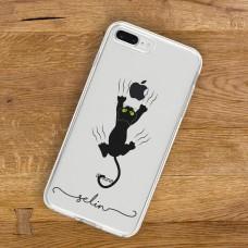 Yaramaz Kara Kedi Şeffaf Telefon Kılıfı