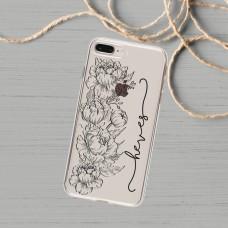 Çiçek Silüeti Telefon Kılıfı