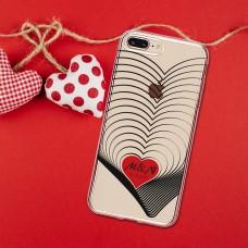Kalp Desenli Telefon Kılıfı